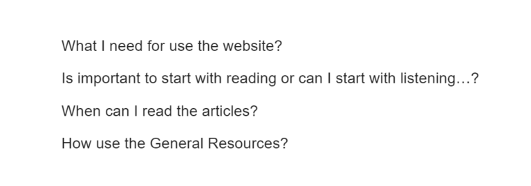 Student Questions in detail about How to use the BEC Exam Guide website