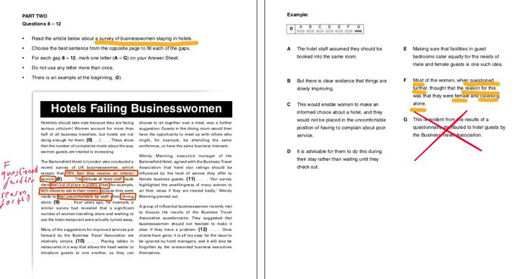 B2 Business Vantage (BEC Vantage) Reading Part Two Question