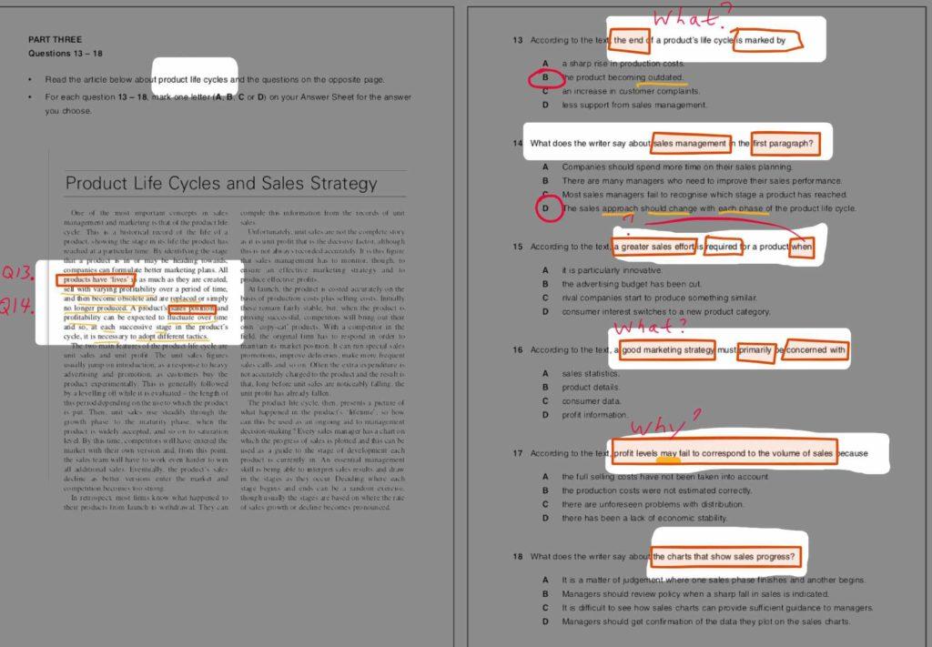 B2 Business Vantage (BEC Vantage) Reading Part Three Question